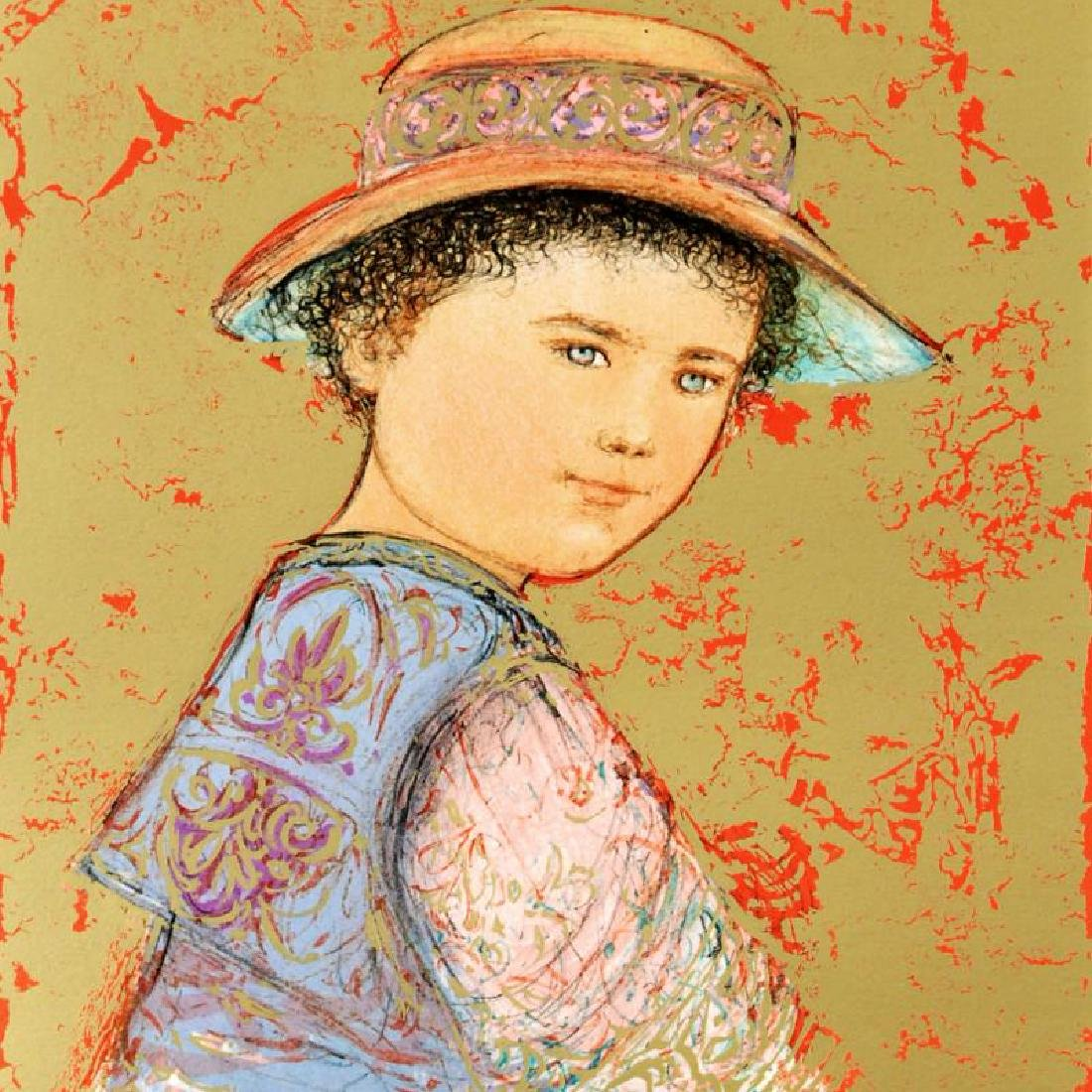 """""""Joel"""" Limited Edition Lithograph by Edna Hibel - 4"""