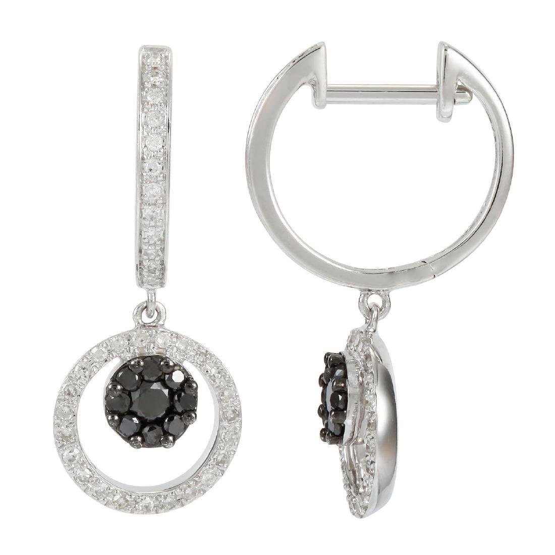 14KT White Gold Diamond Earrings
