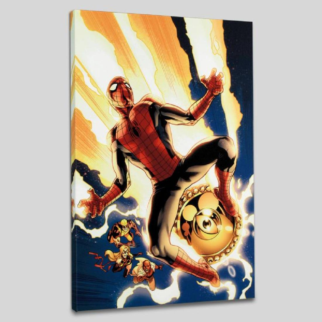 """""""New Avengers #4"""" LIMITED EDITION Giclee on Canvas by - 3"""