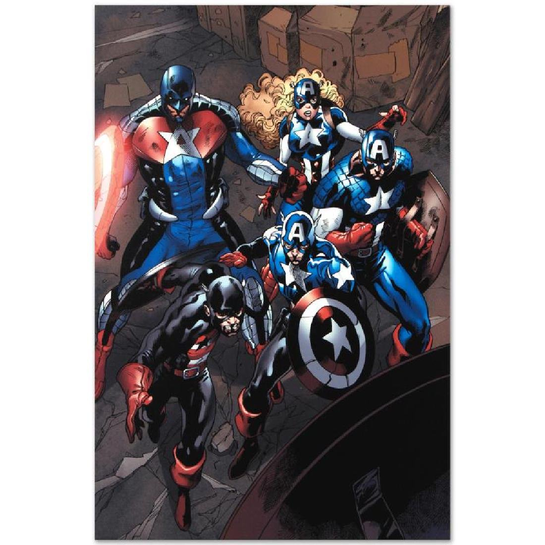 """""""Captain America Corps #2"""" LIMITED EDITION Giclee on - 2"""