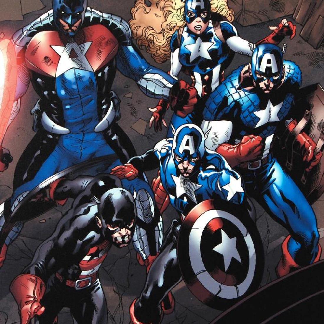 """""""Captain America Corps #2"""" LIMITED EDITION Giclee on - 4"""