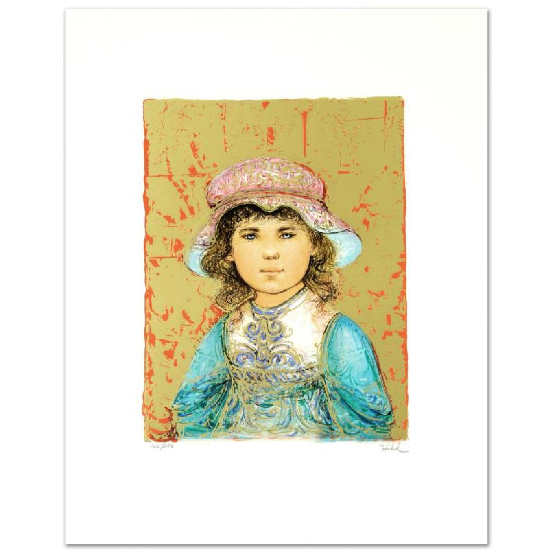"""Deidre"" Limited Edition Lithograph by Edna Hibel"