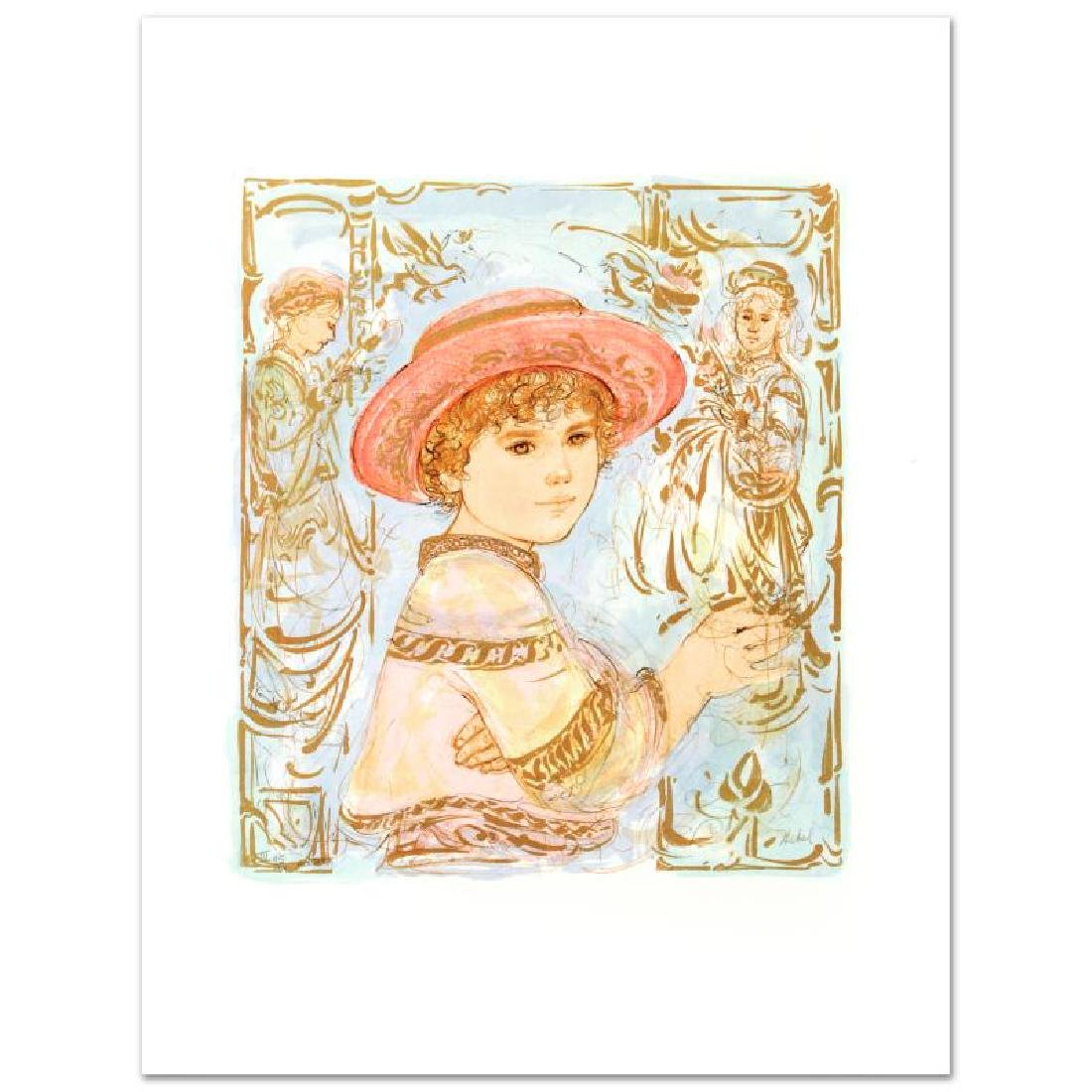"""""""Todd"""" Limited Edition Lithograph by Edna Hibel"""