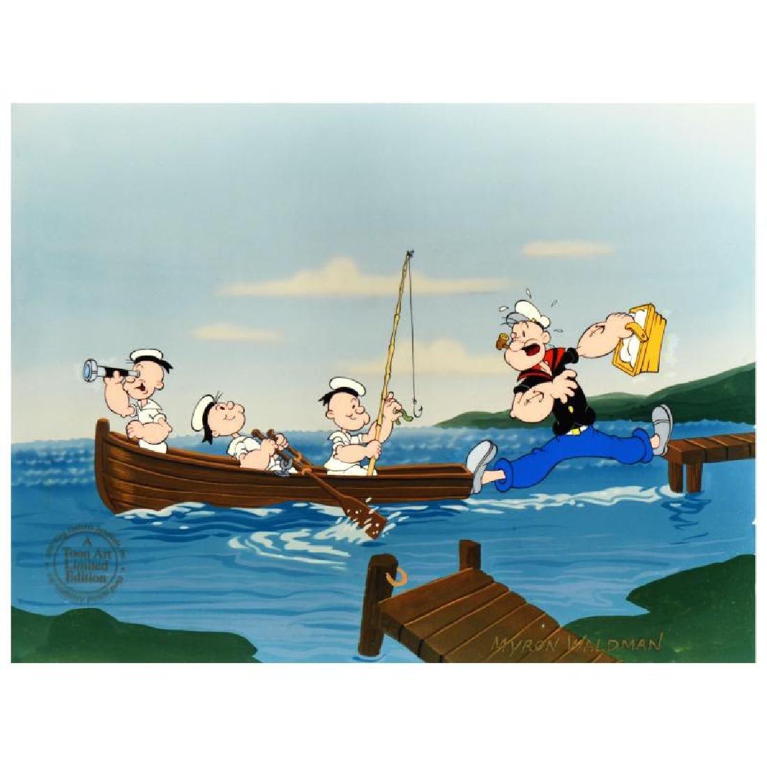 "Myron Waldman (1908-2006)! ""Gone Fishing"" Limited - 3"