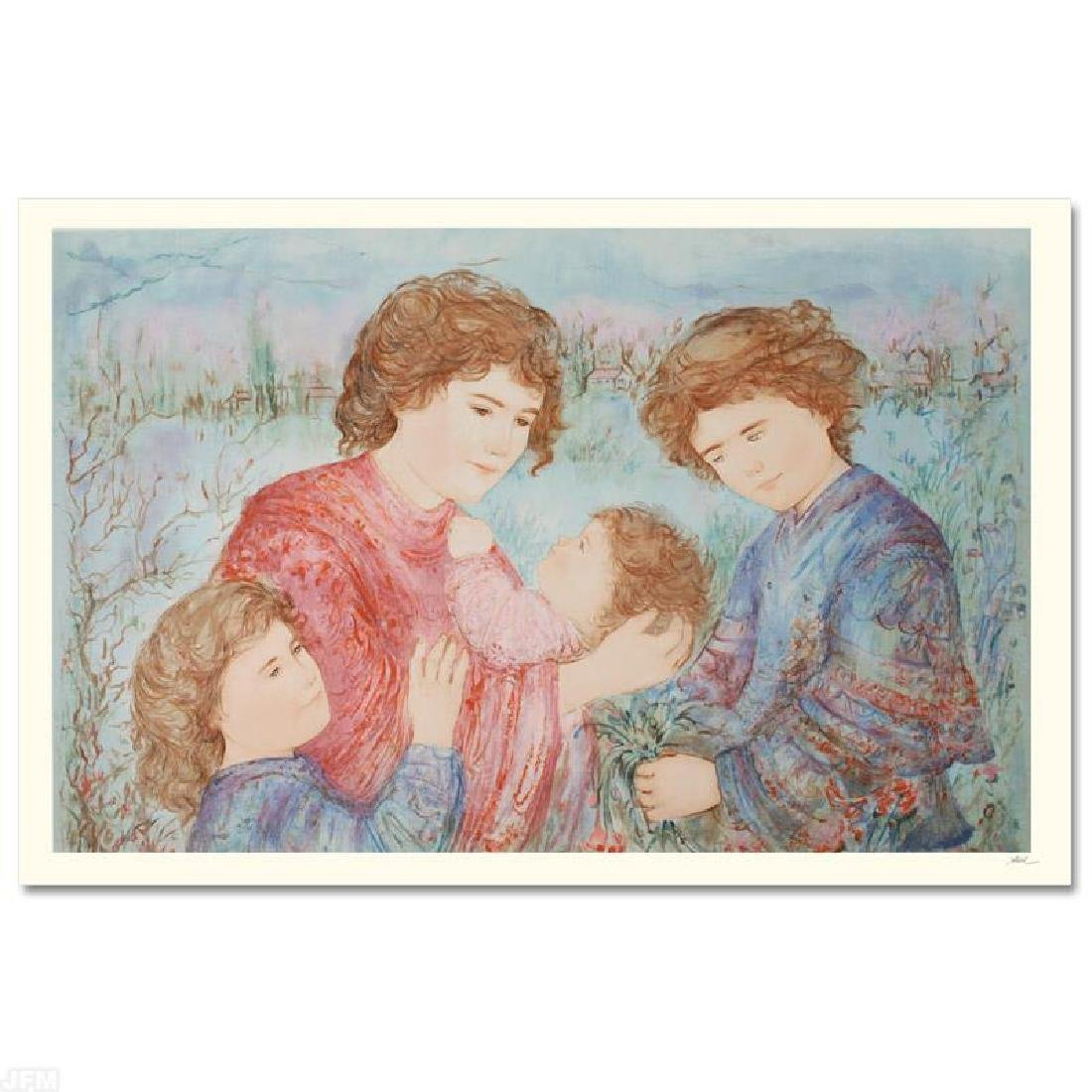 """Early Spring"" LIMITED EDITION Serigraph by Edna Hibel"