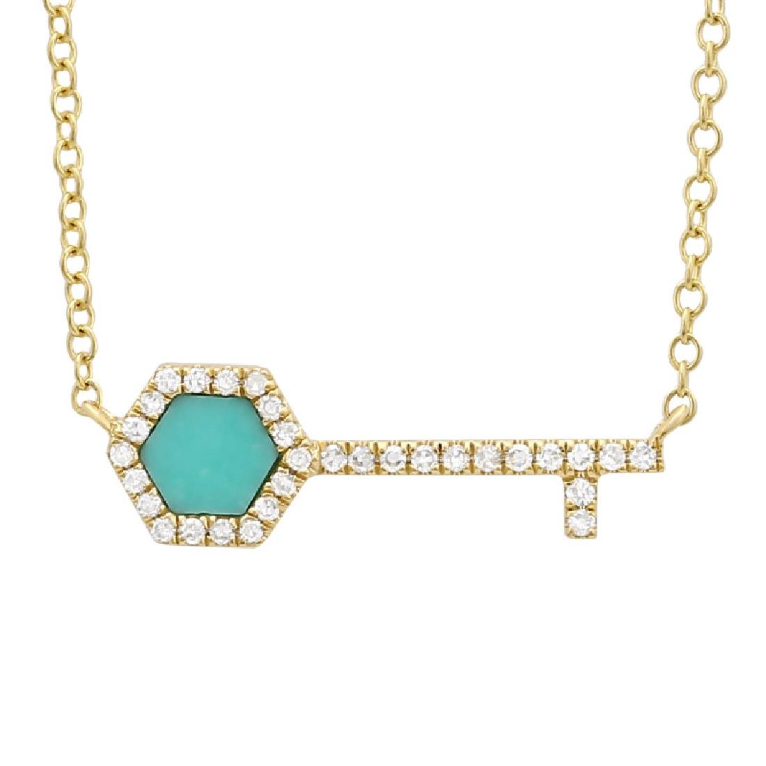 14KT Yellow Gold Gemstone Necklace - 2