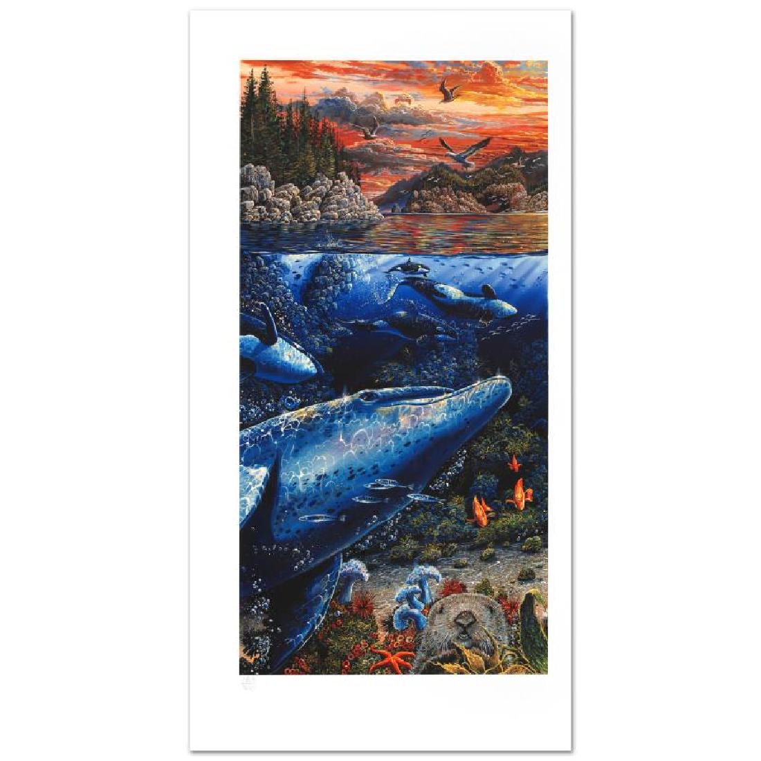 Underwater World Limited Edition Mixed Media Triptych - 4