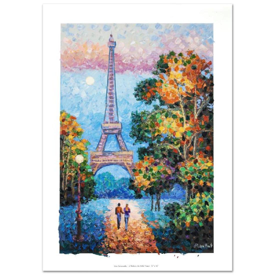 """""""A Walk to the Eiffel Tower"""" Limited Edition Hand"""