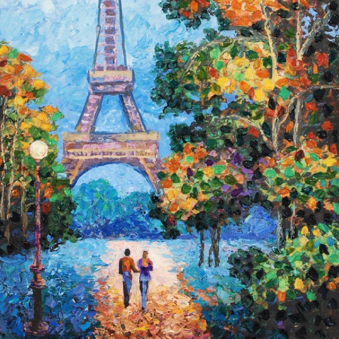 """""""A Walk to the Eiffel Tower"""" Limited Edition Hand - 4"""