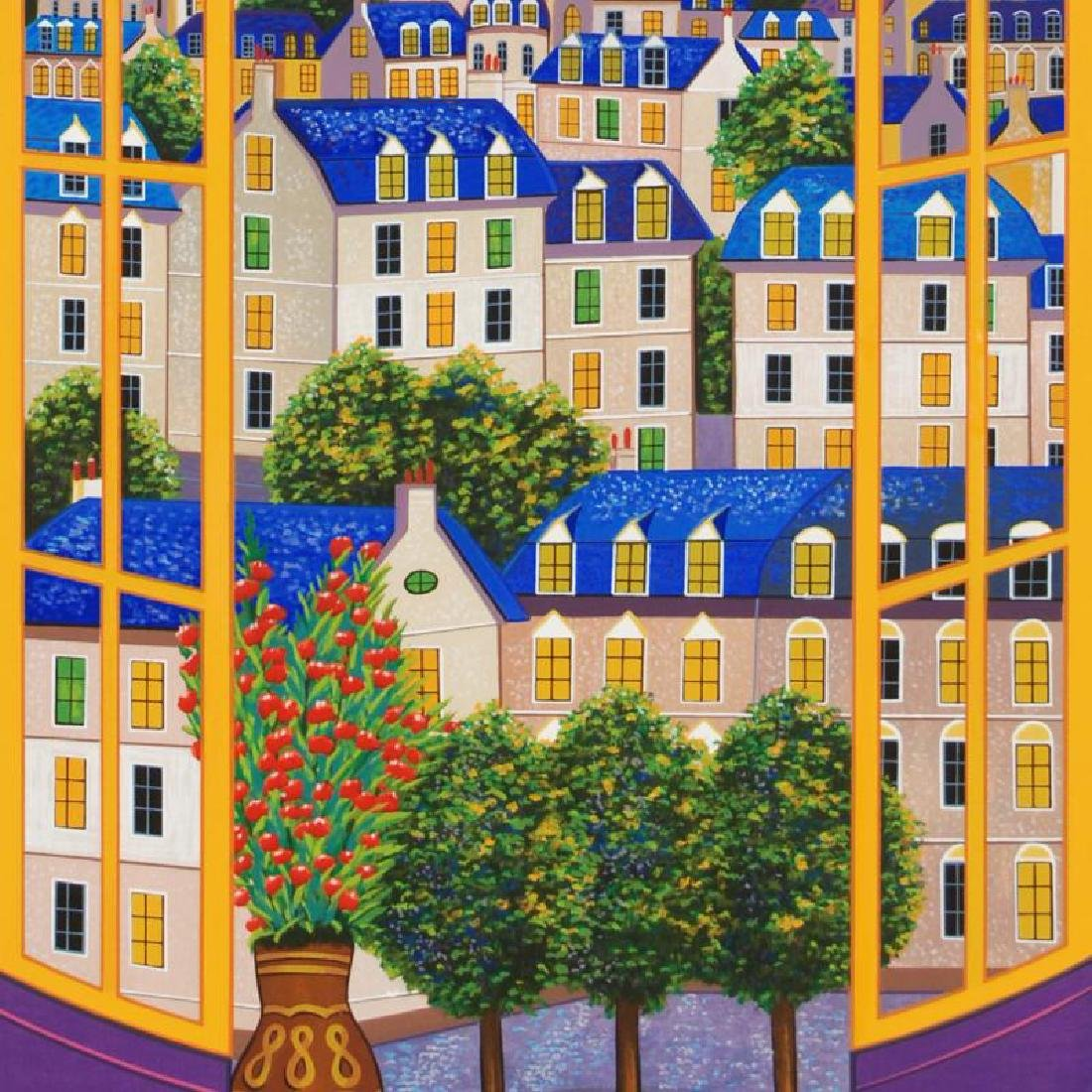 Windows On Paris Limited Edition Serigraph by Fanch - 4