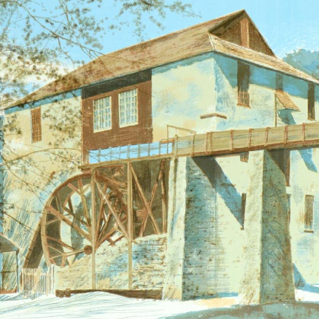 """William Nelson - """"The Mill"""" Limited Edition Serigraph - 2"""