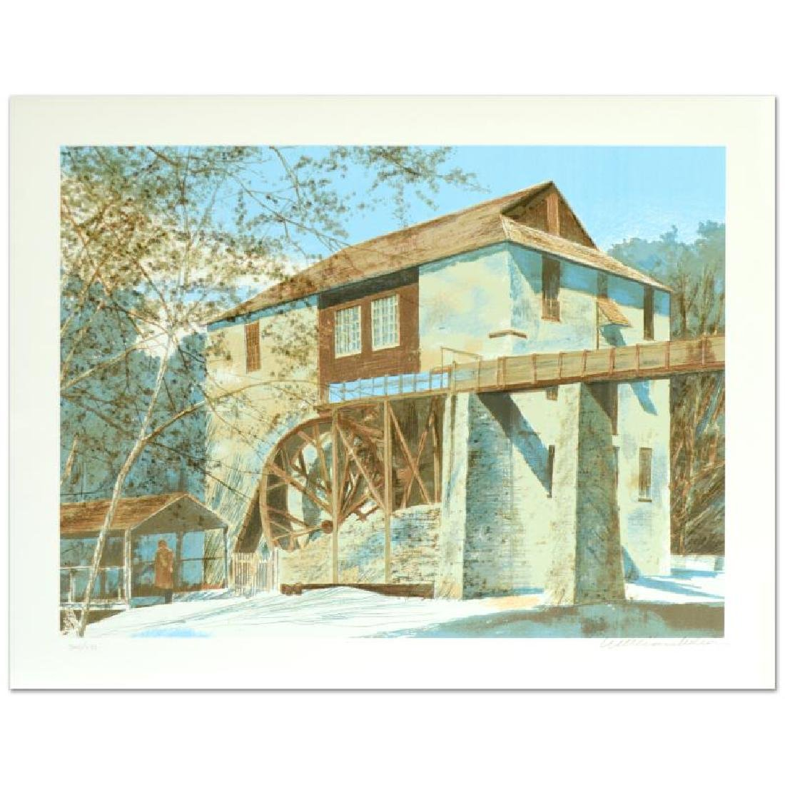 """William Nelson - """"The Mill"""" Limited Edition Serigraph - 3"""