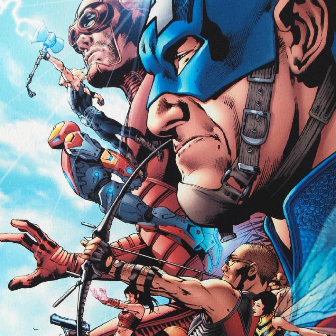 """""""Avengers #1"""" LIMITED EDITION Giclee on Canvas by Bruce - 6"""