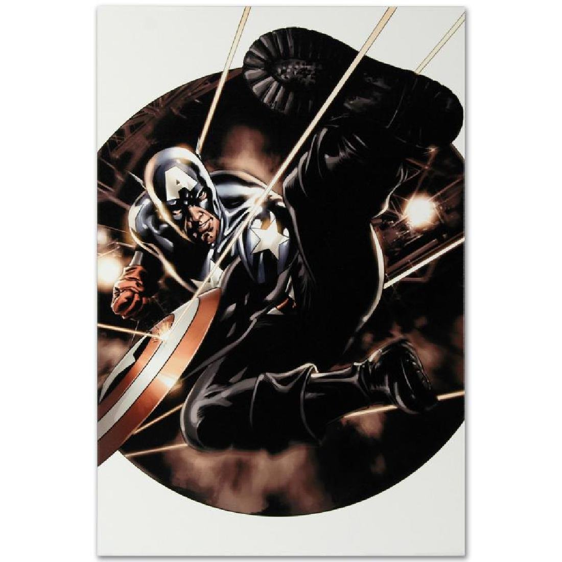 """Captain America #41"" Limited Edition Giclee on Canvas - 6"