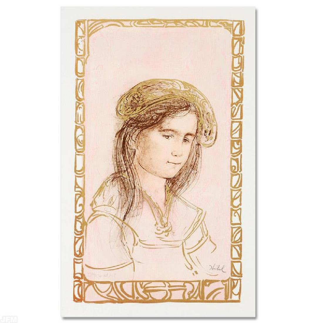 """""""Rita"""" LIMITED EDITION Lithograph by Edna Hibel"""