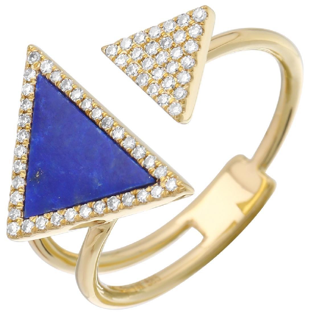 14KT Yellow Gold Gemstone Ring - 2