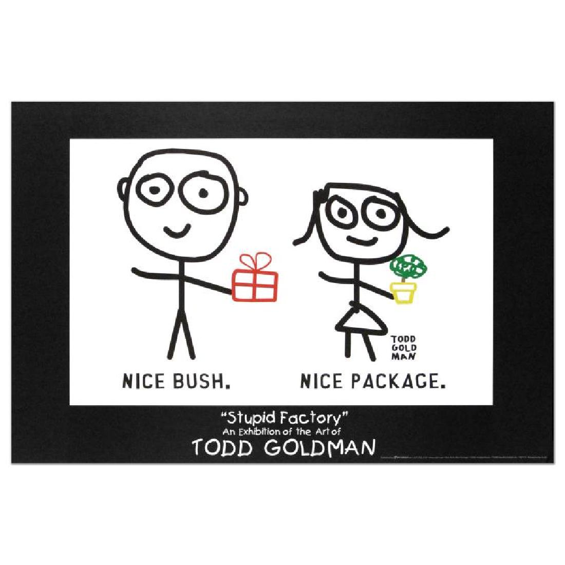 """Nice Package. Nice Bush."" Fine Art Litho Poster (36"" x"