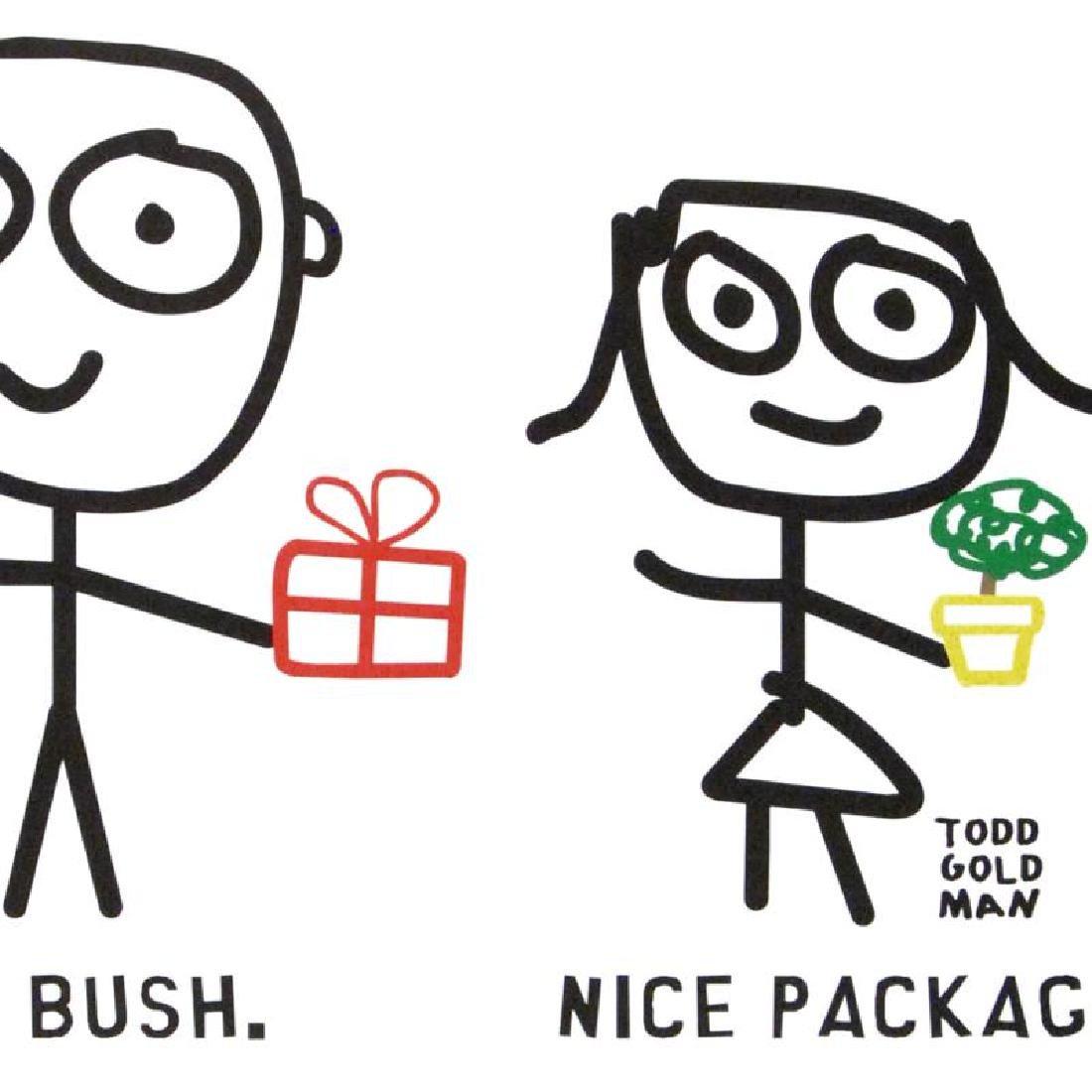 """Nice Package. Nice Bush."" Fine Art Litho Poster (36"" x - 4"