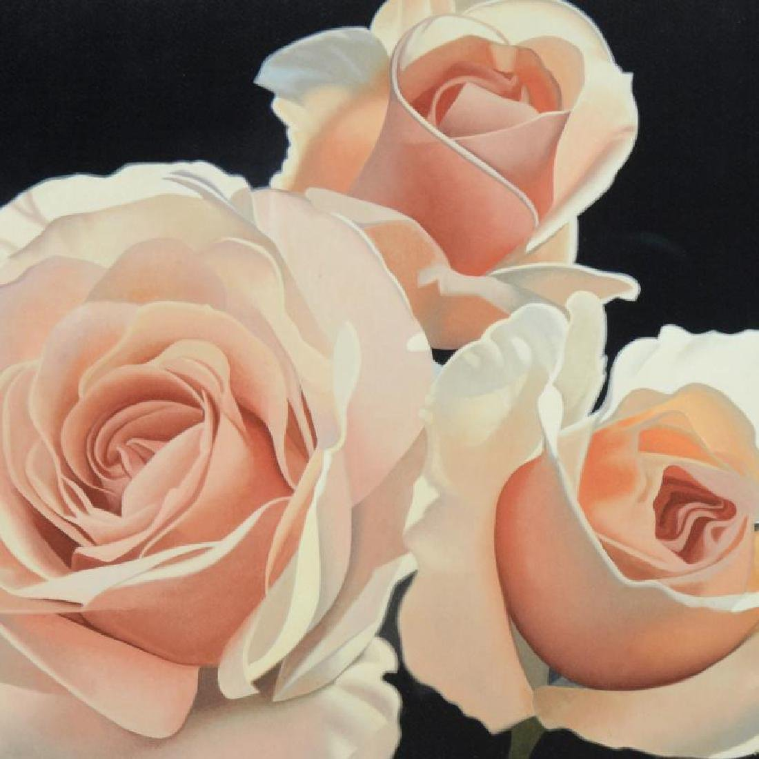 """Three French Lace Roses"" Limited Edition Giclee by - 4"