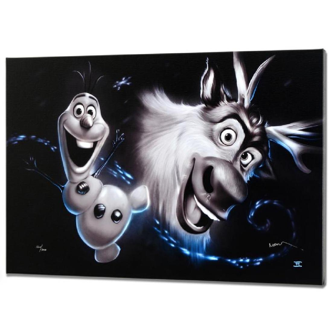 """Olaf & Sven"" Disney Limited Edition Giclee on Canvas"