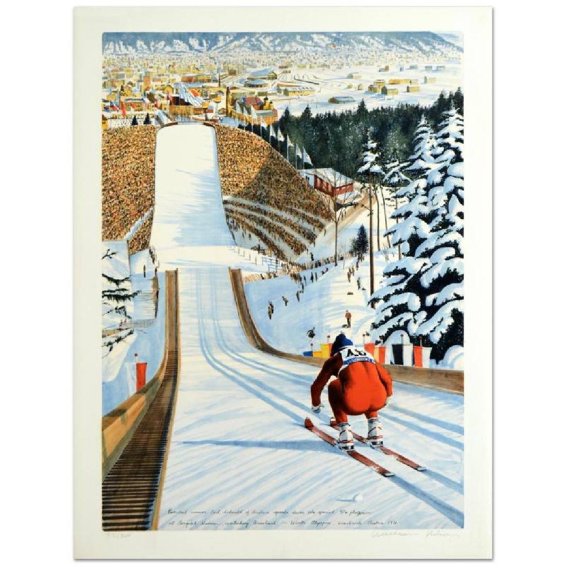 """William Nelson - """"90-Meter Ski Jump"""" Limited Edition"""