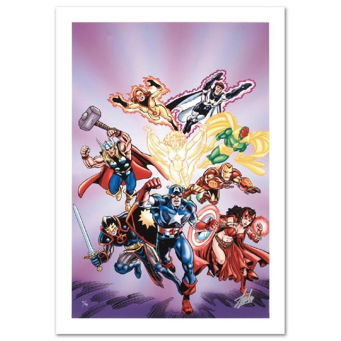 """Avengers #16"" Limited Edition Giclee on Canvas by - 3"