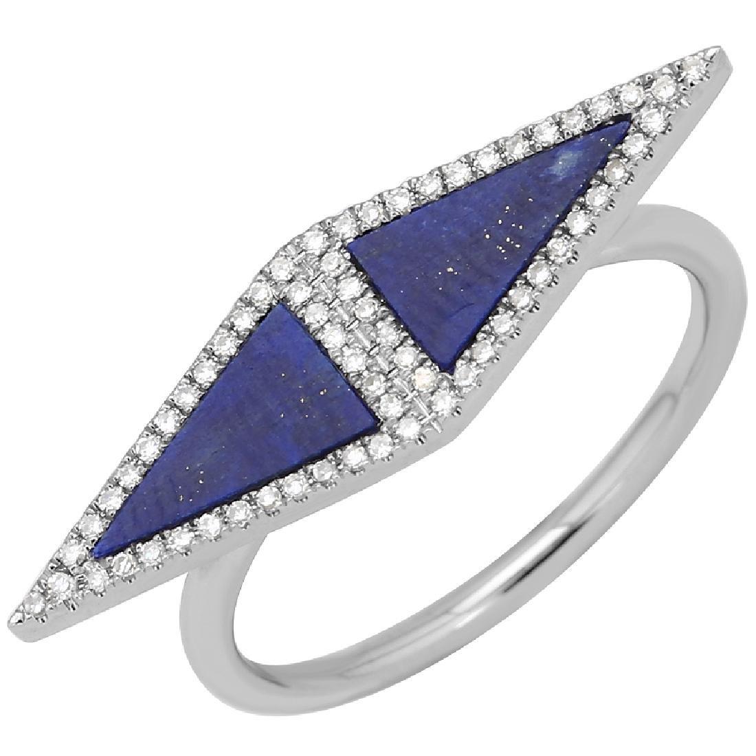 14KT White Gold Gemstone Ring - 2