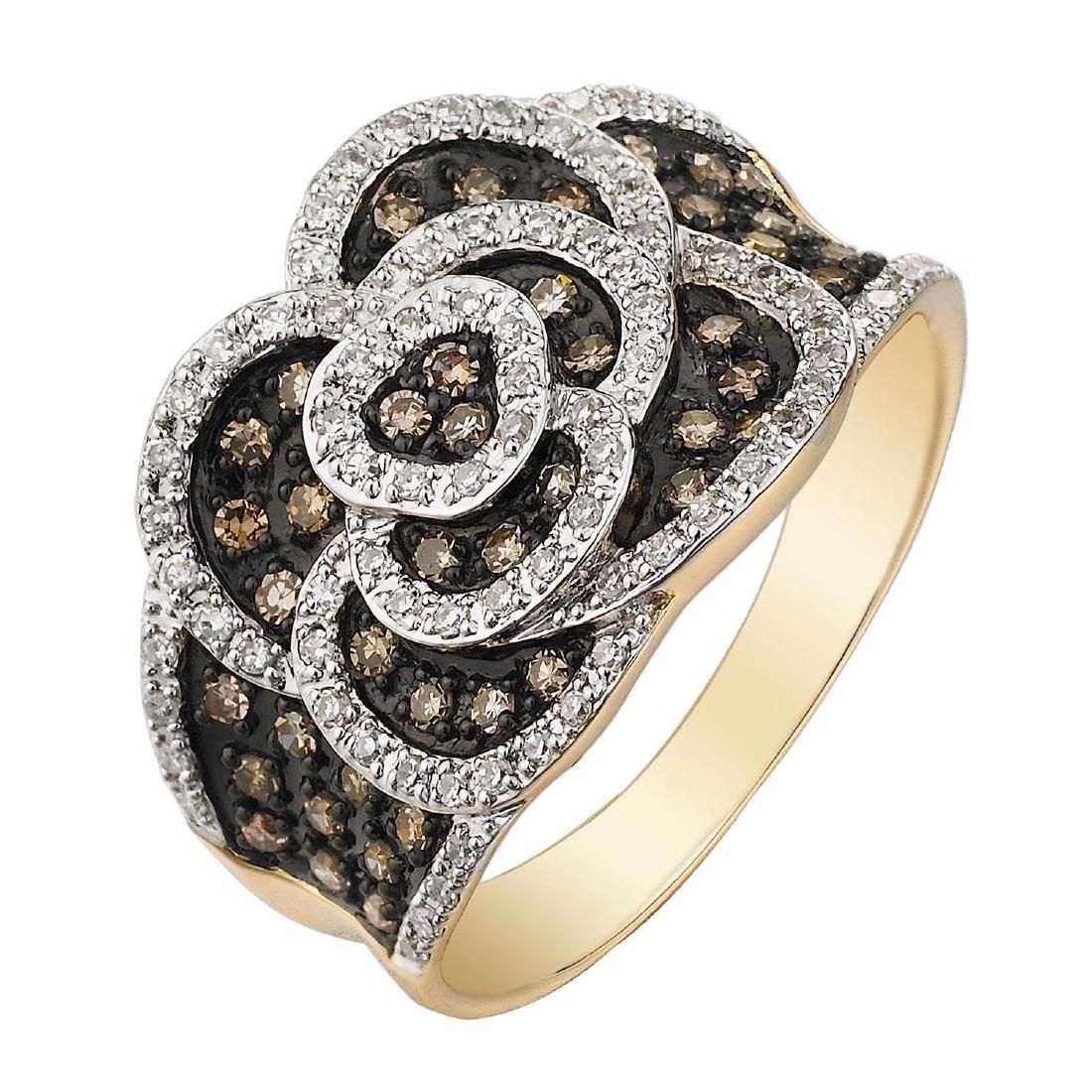 14KT Yellow Gold Women's Diamond Ring - 2