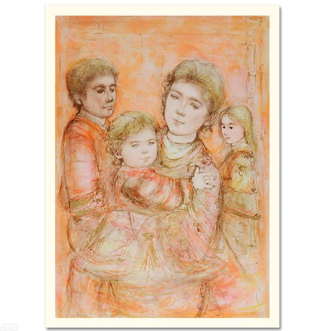 """Portrait of a Family"" LIMITED EDITION Lithograph by - 3"