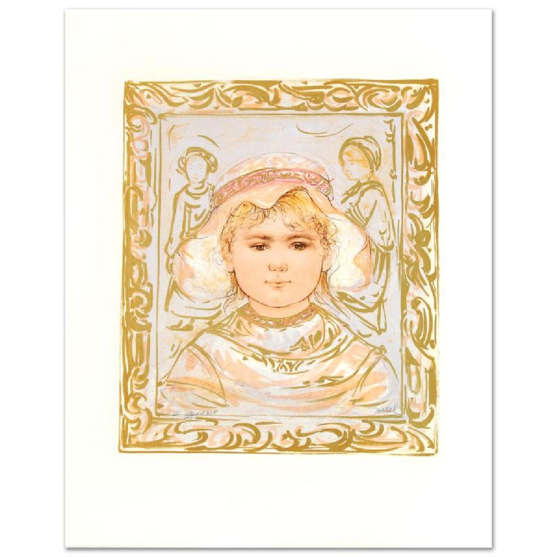 """Martha"" Limited Edition Lithograph by Edna Hibel"