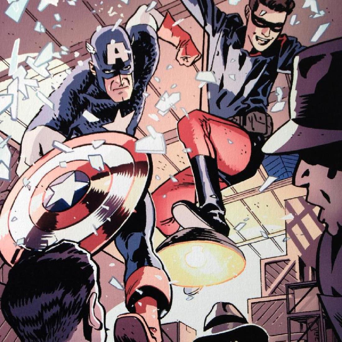 """""""Captain America and Bucky #621"""" LIMITED EDITION Giclee - 4"""