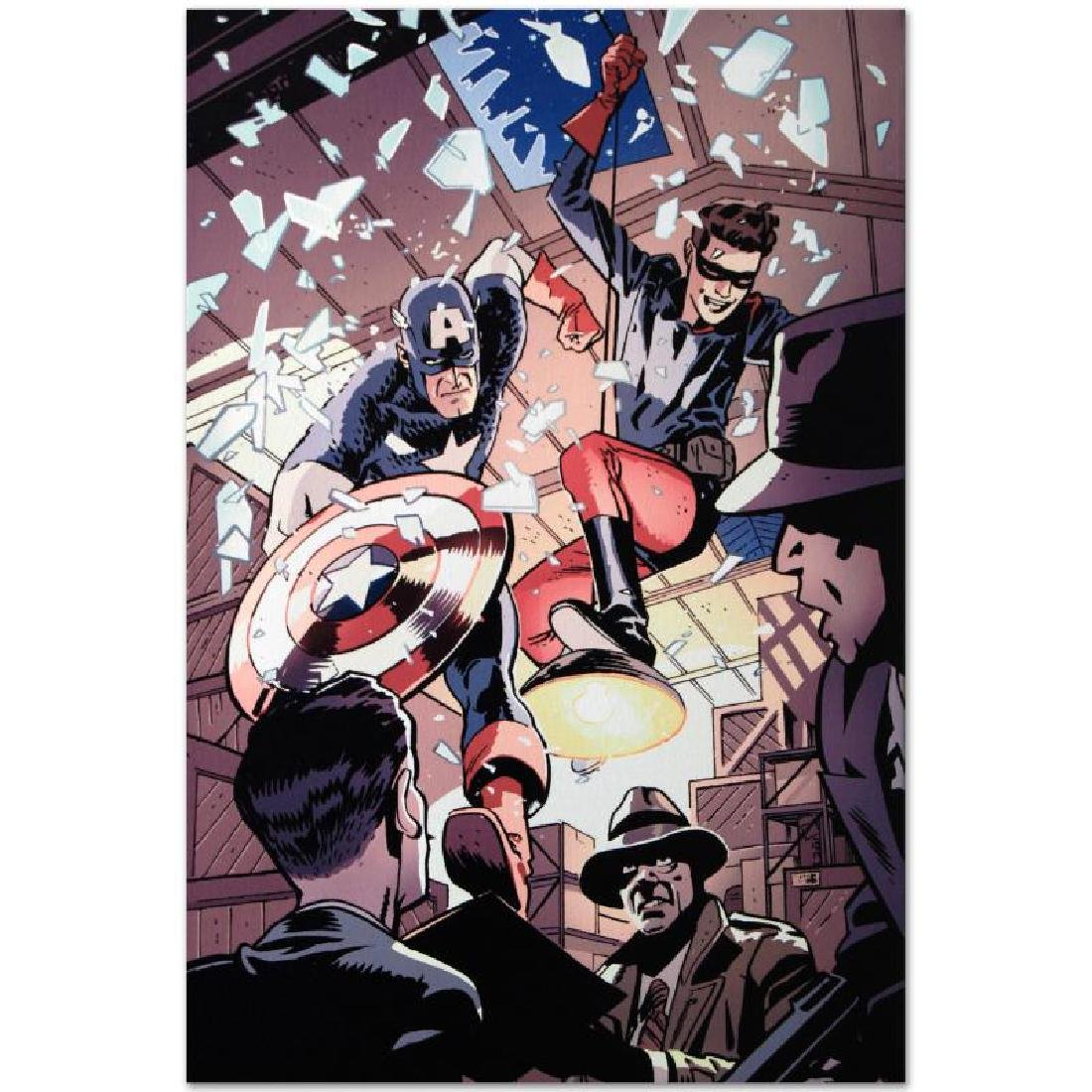 """""""Captain America and Bucky #621"""" LIMITED EDITION Giclee - 6"""