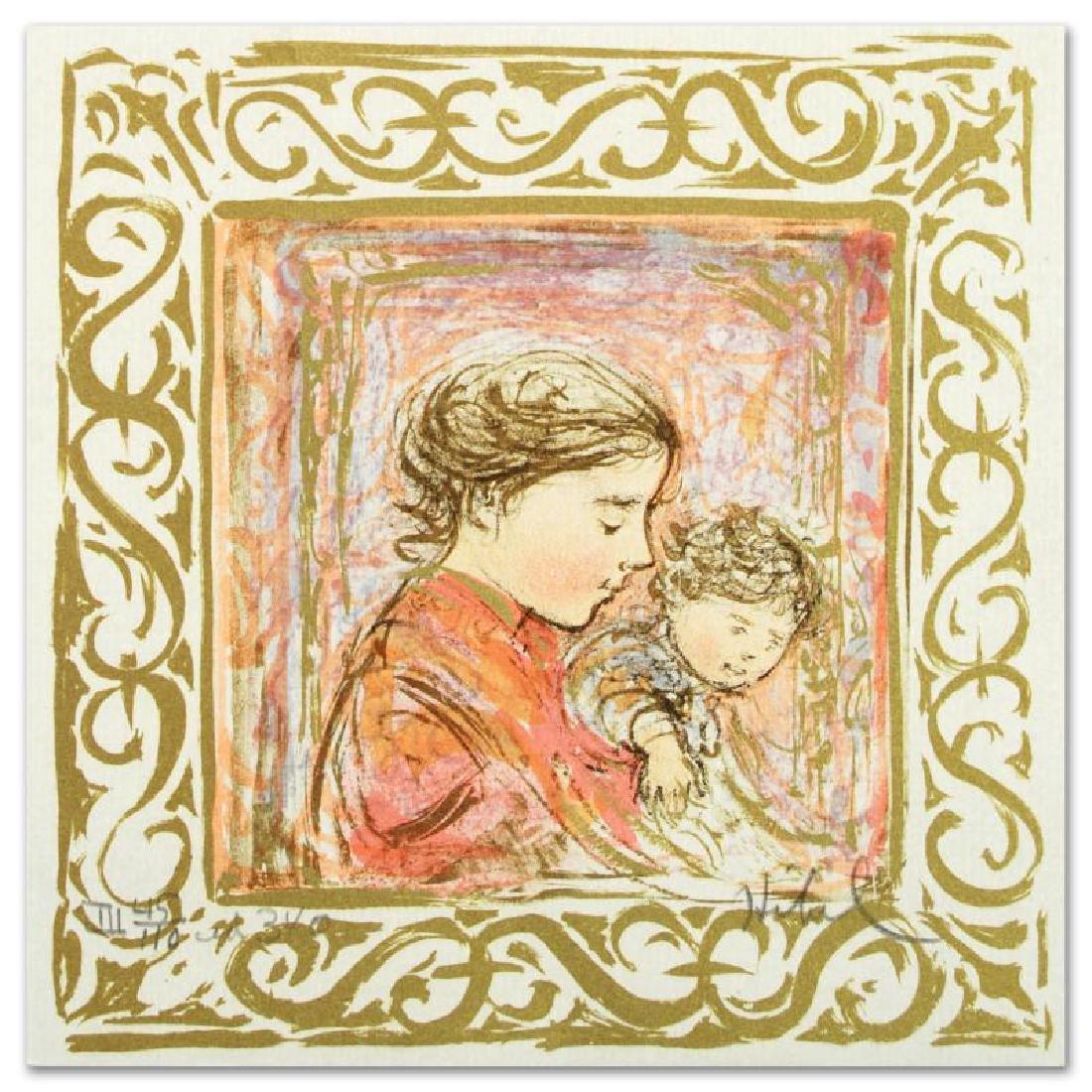 """Amanda"" Limited Edition Lithograph by Edna Hibel - 3"