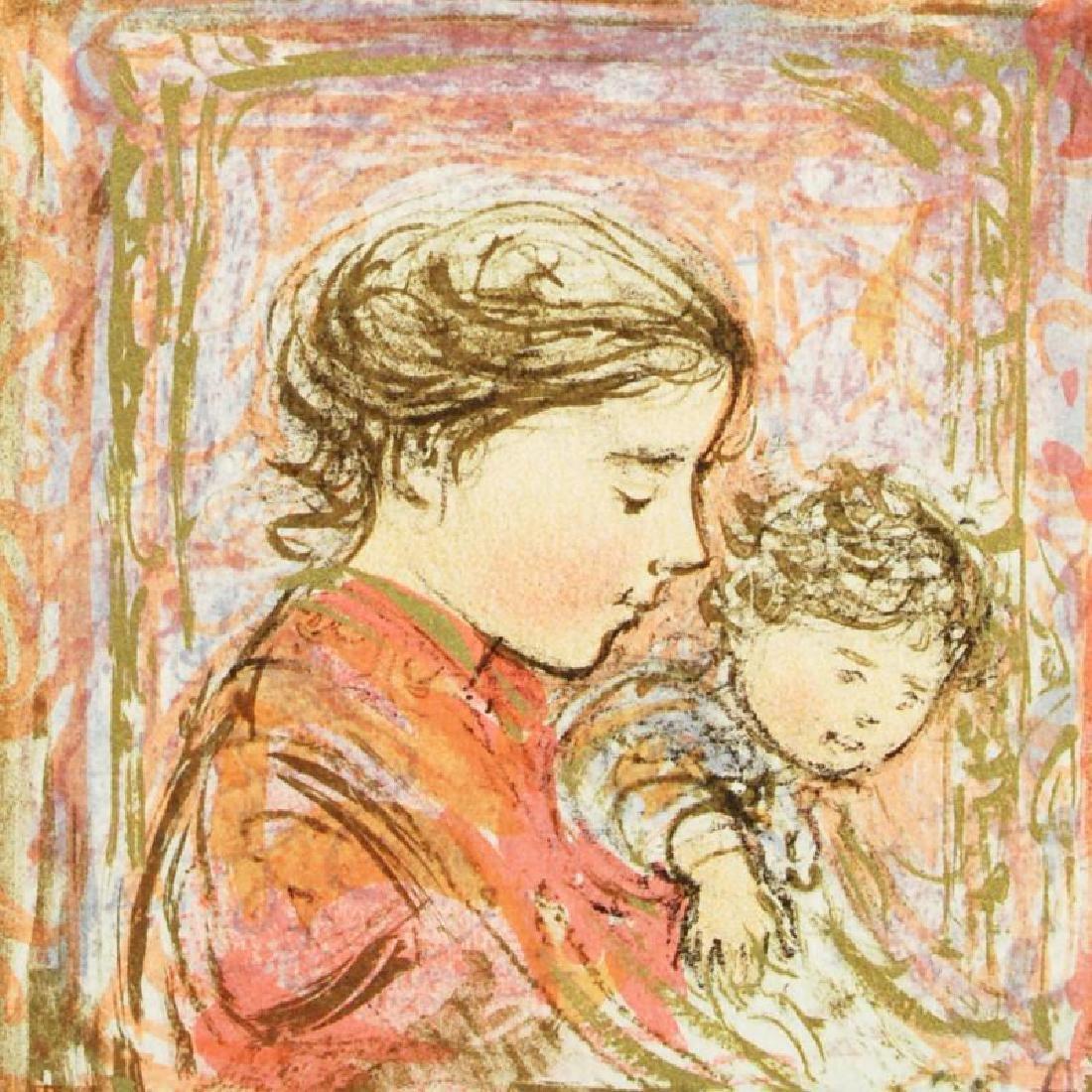 """Amanda"" Limited Edition Lithograph by Edna Hibel - 4"