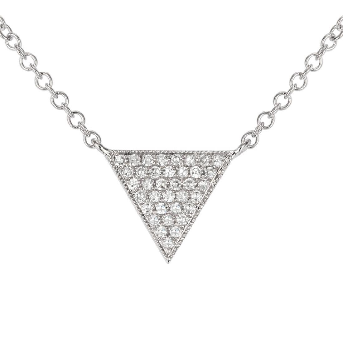 14KT White Gold Diamond Necklace