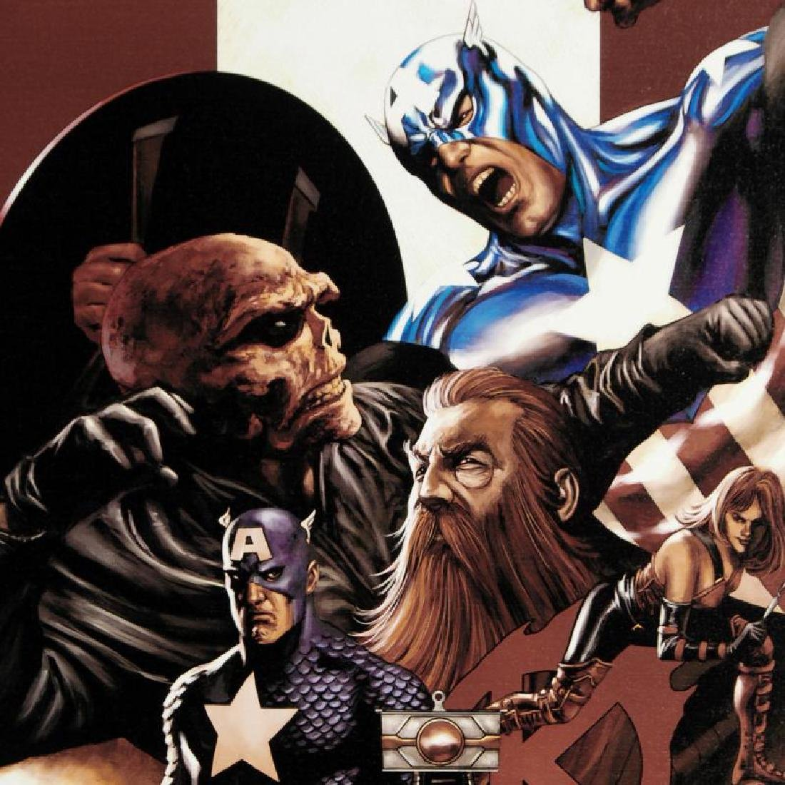 """""""Captain America #42"""" Limited Edition Giclee on Canvas - 5"""