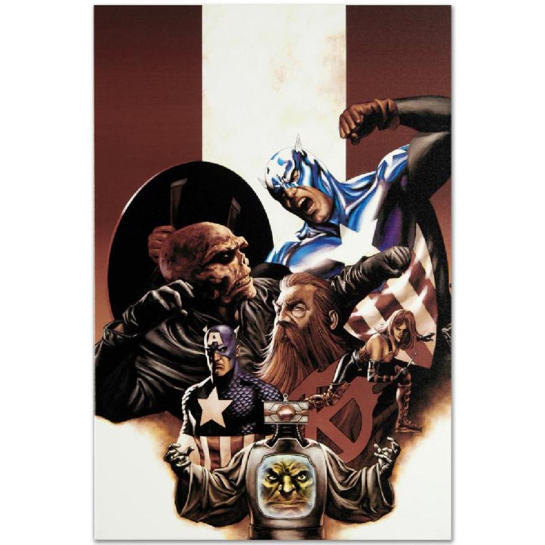 """""""Captain America #42"""" Limited Edition Giclee on Canvas - 6"""