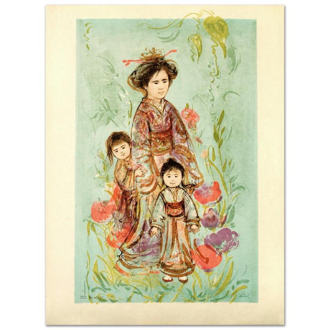 """Setsu"" Limited Edition Lithograph by Edna Hibel"