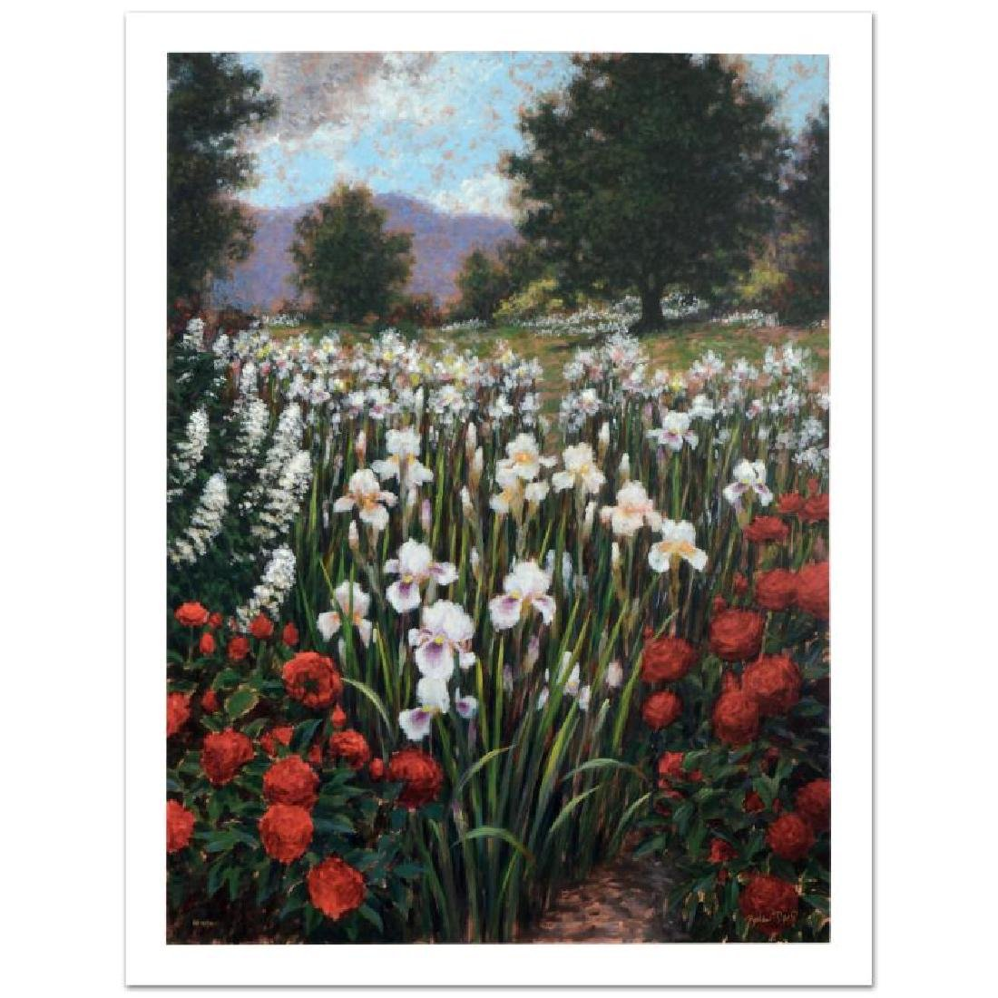 """""""Irises In A Meadow"""" Limited Edition Giclee (34"""" x 44"""")"""