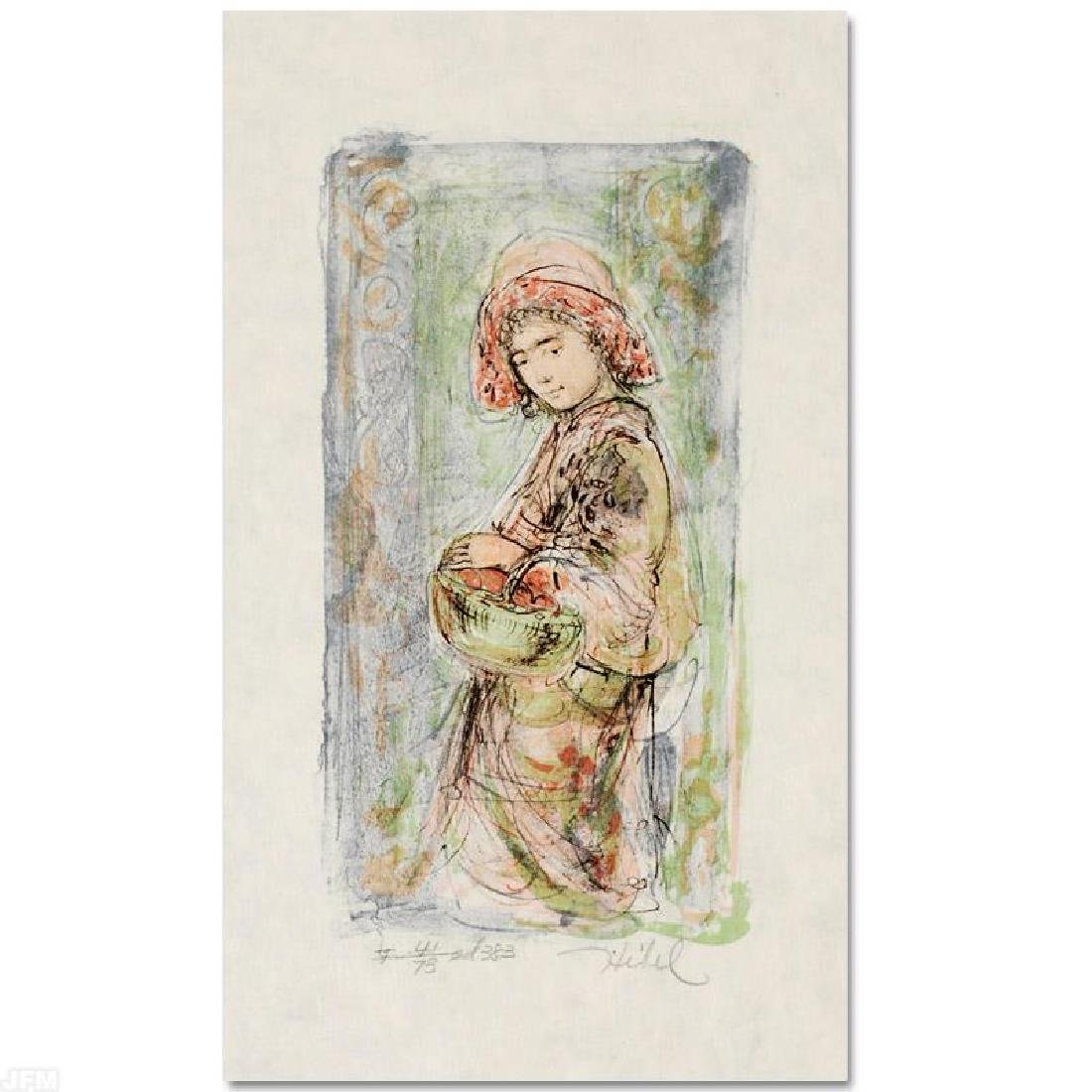 """Mildred"" LIMITED EDITION Lithograph by Edna Hibel - 3"