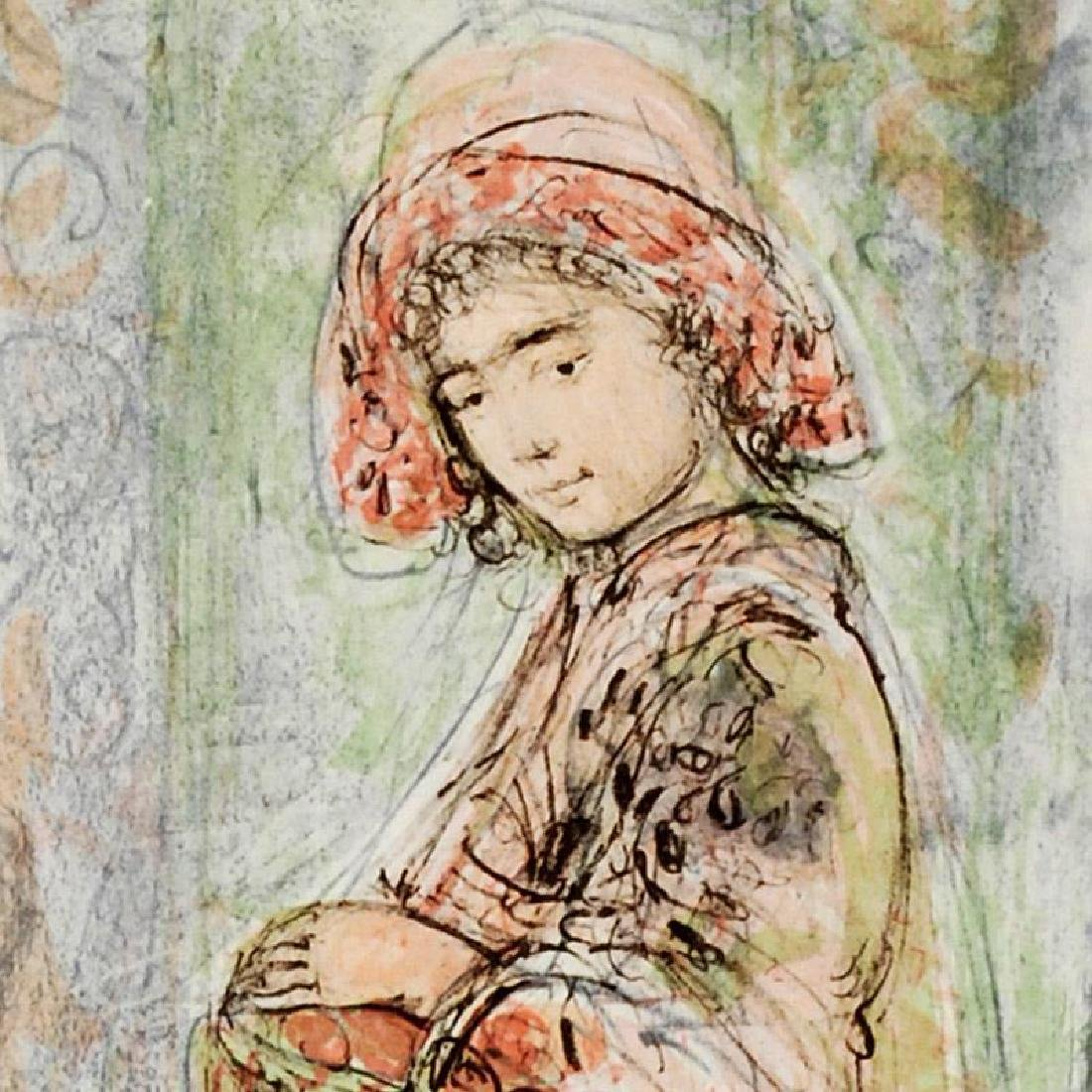 """""""Mildred"""" LIMITED EDITION Lithograph by Edna Hibel - 4"""