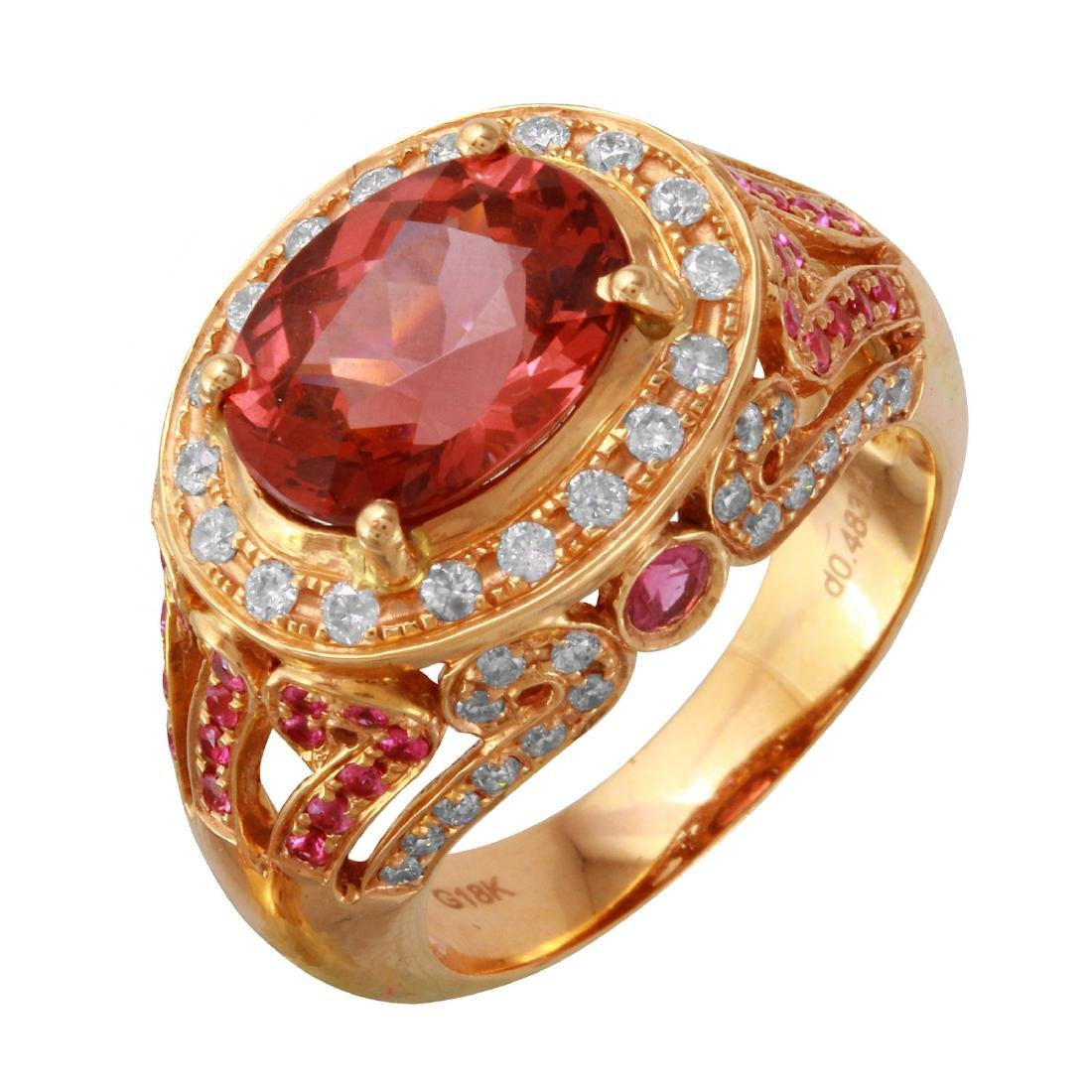 18KT Rose Gold Gemstone Ring
