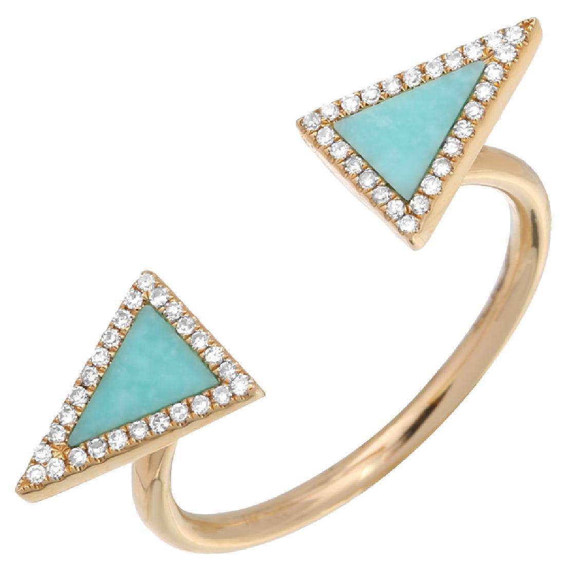14KT Yellow Gold Gemstone Ring