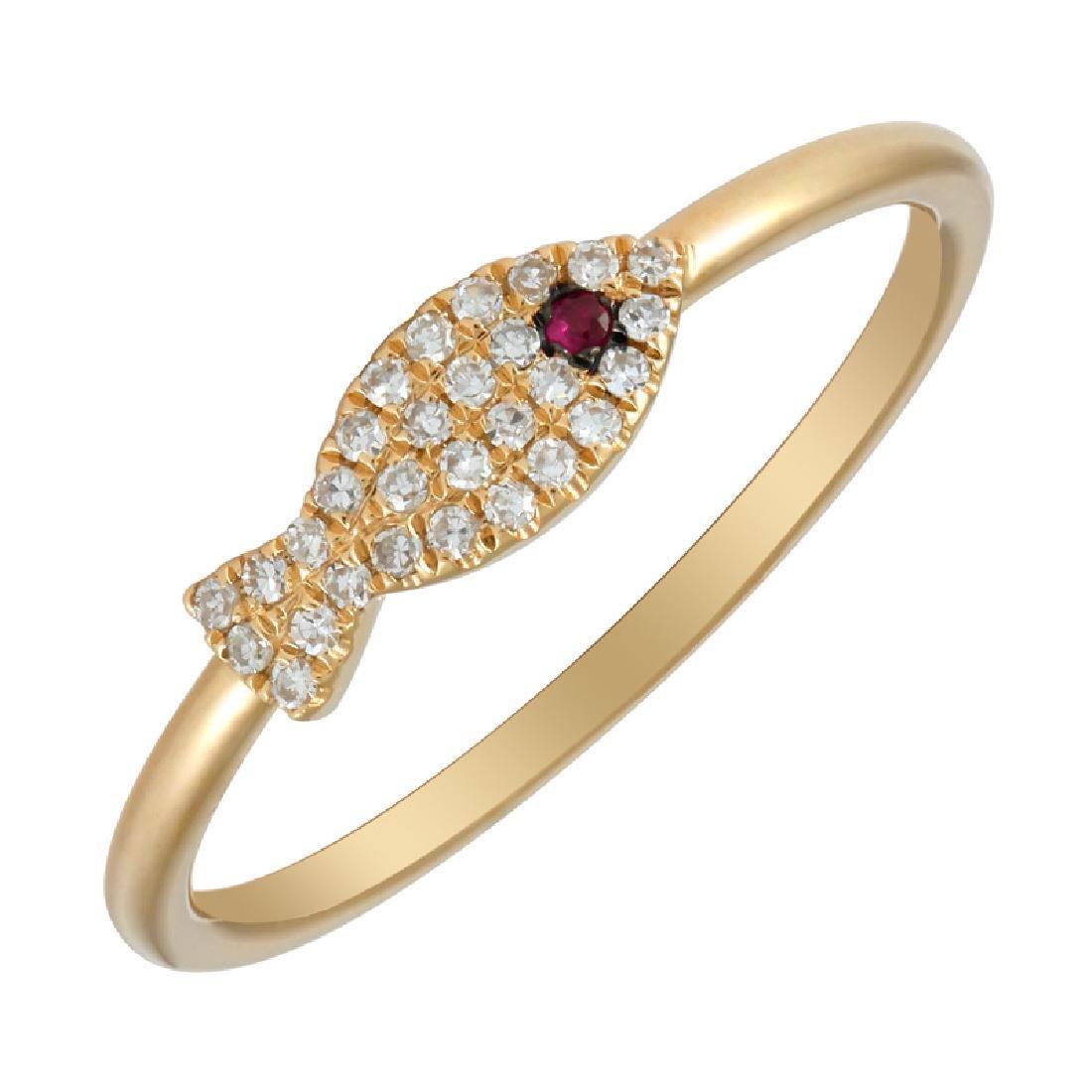 14KT Yellow Gold Women's Diamond Ring