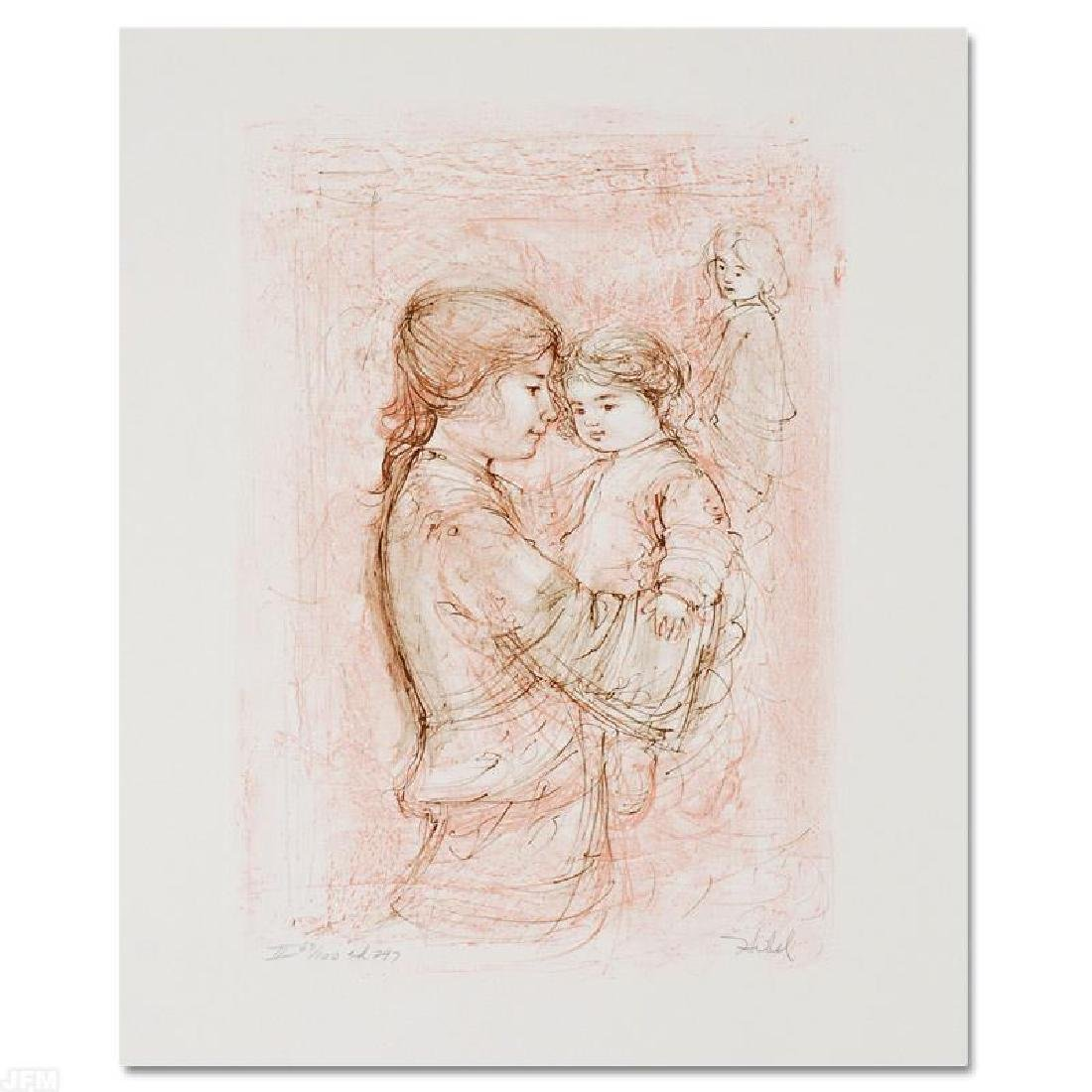 """Nicole with Baby"" Limited Edition Lithograph by Edna"