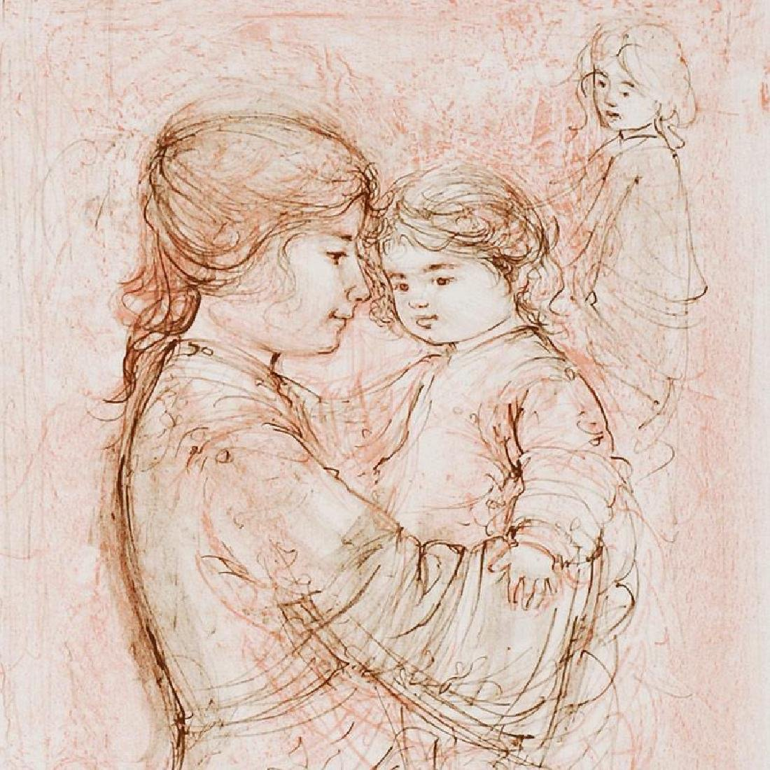 """""""Nicole with Baby"""" Limited Edition Lithograph by Edna - 2"""