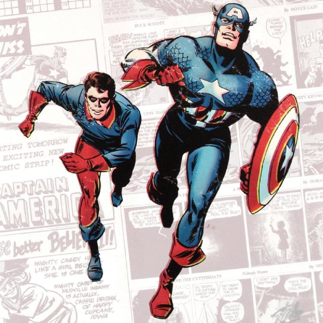 """""""Captain America: The 1940s Newspaper Strip"""" Limited - 4"""