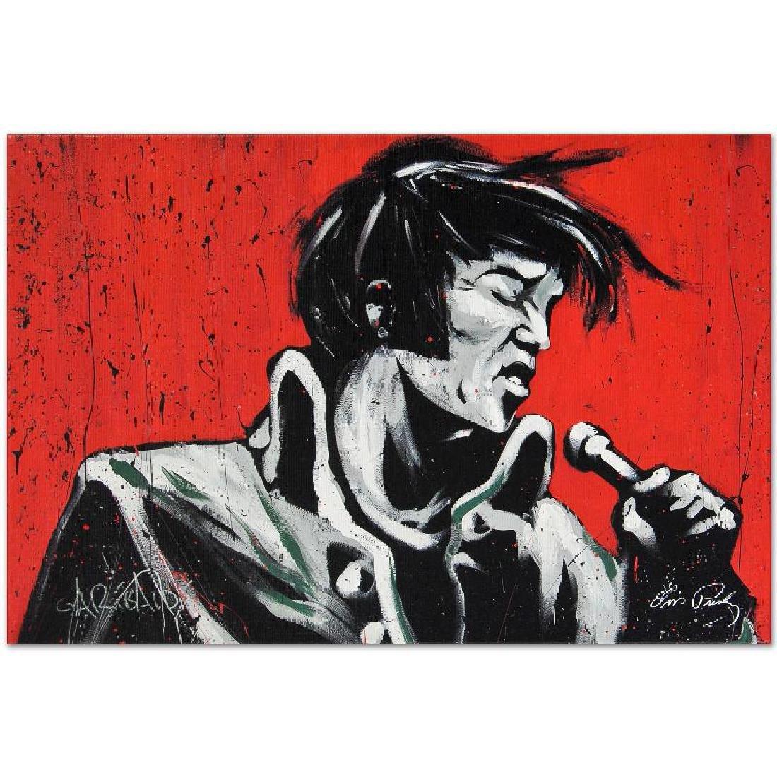 """Elvis Presley (Revolution)"" LIMITED EDITION Giclee on - 3"
