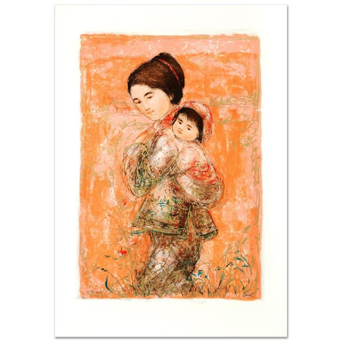 """Morning Stroll"" Limited Edition Lithograph by Edna"
