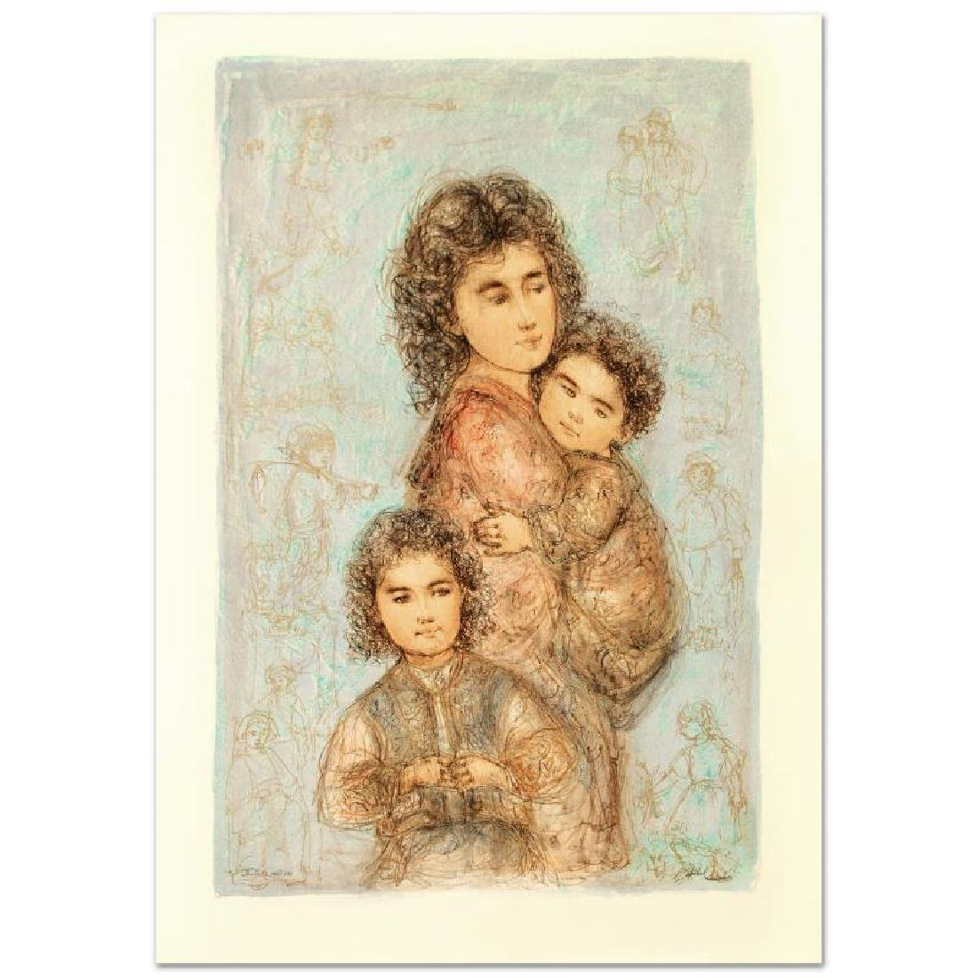"""Catherine and Children"" Limited Edition Lithograph by"